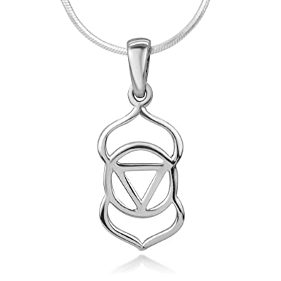 Amazon 925 sterling silver open ajna 3rd third eye chakra 925 sterling silver open ajna 3rd third eye chakra symbol spiritual pendant necklace 18quot mozeypictures Image collections
