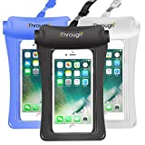iThrough. Universal Waterproof Case, Waterproof Pouch IPX8 Heavy-Duty Case Dry Bag Pouch for iPhone X/8/8 Plus/7/7 Plus/6/6s Plus/5s/se/Galaxy S5/S6/S7 Edge plus sS8 S9 Note 4/5/5/7/8