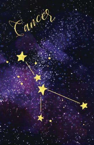 Journal Notebook Zodiac Sign Cancer Constellation: 162 Lined and Numbered Pages With Index Blank Journal For Journaling, Writing, Planning and Doodling. (Lined Journal) (Volume 3)