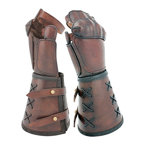 Epic Armoury Armor Venue - Single Leather Gauntlet - Brown - Left Handed