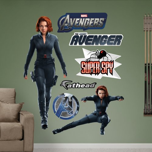 FATHEAD Black Widow: Avengers Live Action Photo Graphic Wall (Action Wall Graphic)