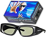 4 Adult Epson ELPGS03 3D Glasses 3D Heaven Rechargeable Compatible 3-D Glasses 4 PACK!