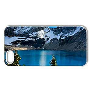 Circuit Canada, Yoho National Park - Case Cover for iPhone 5 and 5S (Lakes Series, Watercolor style, White)