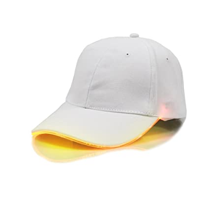 Yiwa Luces brillantes LED Gorra de béisbol unisex Sombrero de linterna para  acampar Correr correr y 9dd465a2af3