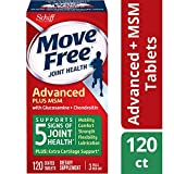 Glucosamine & Chondroiton Plus MSM Advanced Joint Health Supplement Tablets, Move Free (120 count in a bottle), Supports Mobility, Flexibility, Strength, Lubrication and Comfort