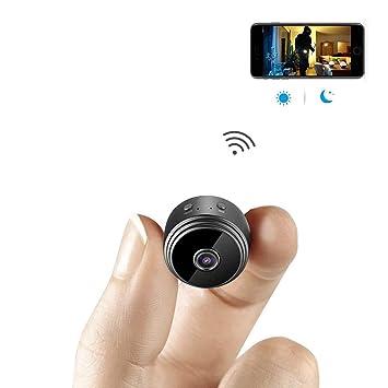 LETU Mini Cámara, Wireless WiFi Mini Cámara De Vigilancia Inalámbrica Cámara Niñera 1080P Infrarrojos Visión Nocturna De La Aplicación De Control De ...