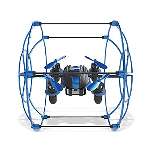 Protocol Neo-Cage RC Drone | Able to Perform Banked Turns and 360° Flips with Its 6-Axis Gyro Stabilizer for Precise Flight | Roll Cage for Ground Locomotion and Impact Resistant - Cage Shield