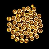 Tuscom Solar Lamps String,10M 100 LED for Christmas Wreaths Wedding Decoration Light (3 Style) (Yellow)