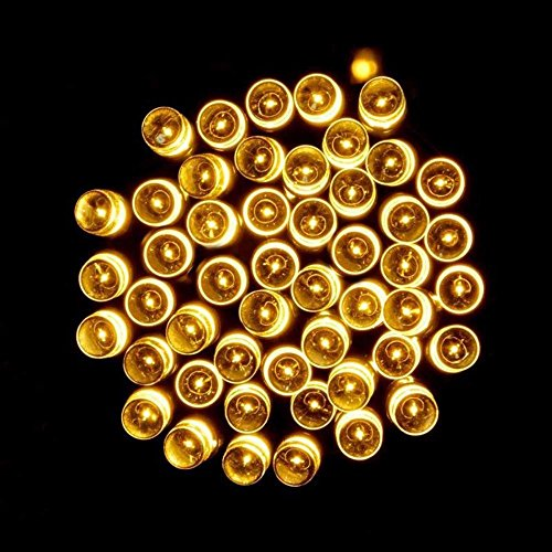 Tuscom Solar Lamps String,10M 100 LED for Christmas Wreaths Wedding Decoration Light (3 Style) (Yellow) by Tuscom@