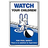 Poolmaster Sign for Residential or Commercial Swimming Pools, Watch Your Children