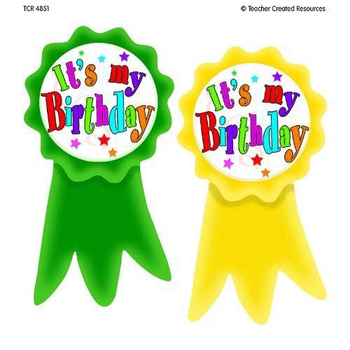 Birthday Wear Em Badges - TEACHER CREATED RESOURCES BIRTHDAY RIBBONS WEAR EM BADGES (Set of 3)