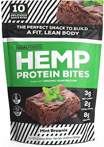 Delicious Vegan Snacks Healthy Snacks Gluten Free Snacks Low Carb Snacks - Vegan Protein Snacks for Adults and Kids are Low Sugar Snacks That Contain Hemp Protein, Pea Protein - Perfect Vegan Dessert