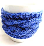 Integrity Designs Handmade Coffee Cup Sleeve Mug Cozy Blue and 3 inch Gift Card with Envelope