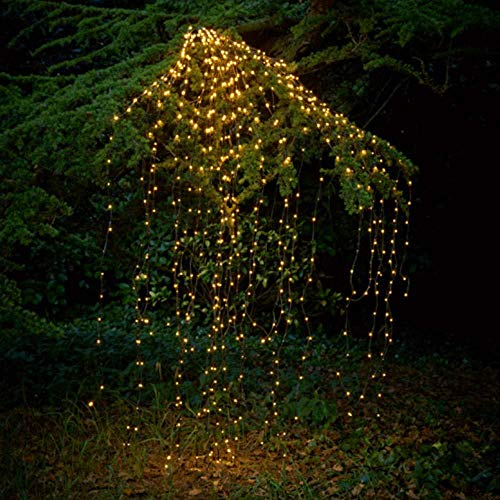 SKYFIRE 2 Pack Solar Powered Twinkle Fairy Lights, 10 Strands 200 LEDs Waterproof Timbo String Lights Decorative Silver Wire Vine Solar Lights for Outdoor, Garden, Christmas Tree