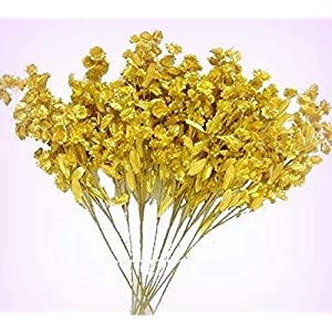 Inna-Wholesale Art Crafts New 12 Baby's Breath Spray Gold Gypsophila Silk Bouquet Decorating Flowers Centerpieces - Perfect for Any Wedding, Special Occasion or Home Office D?cor 119