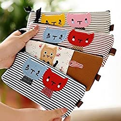 1 X hayabusa TM 4 pieces Kitten stripe Pen Bag cat Pencil case by haya by HomeOffice