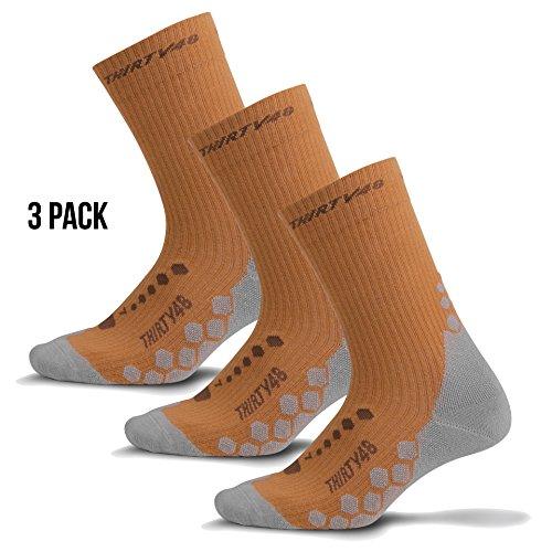 Light Hiking Socks for Men & Women by Thirty 48 - Anti-Odor & Moisture Wicking
