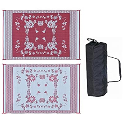 Reversible Outdoor Patio/RV Camping Mat - Floral