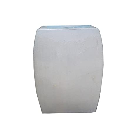Wondrous Amazon Com Chinese Off White Square Clay Ceramic Garden Ibusinesslaw Wood Chair Design Ideas Ibusinesslaworg