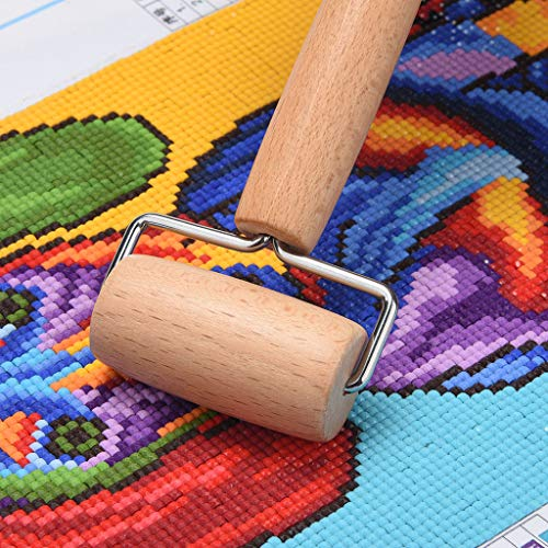 Sietore 5D Diamond Painting Tool Set Wood Roller DIY Diamond Painting Accessories for Diamond Painting Wood Roller(Yellow,18x11x6cm) by Sietore (Image #2)