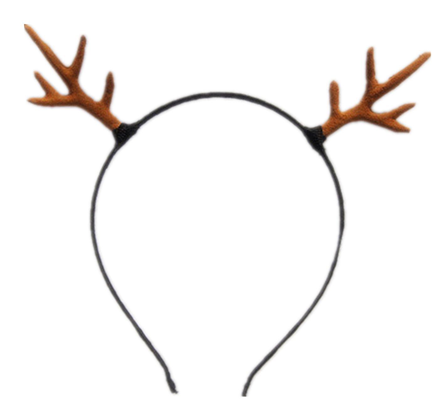 Bear Boys Small Reindeer Elk Antlers Headband (Brown) by Bear boys