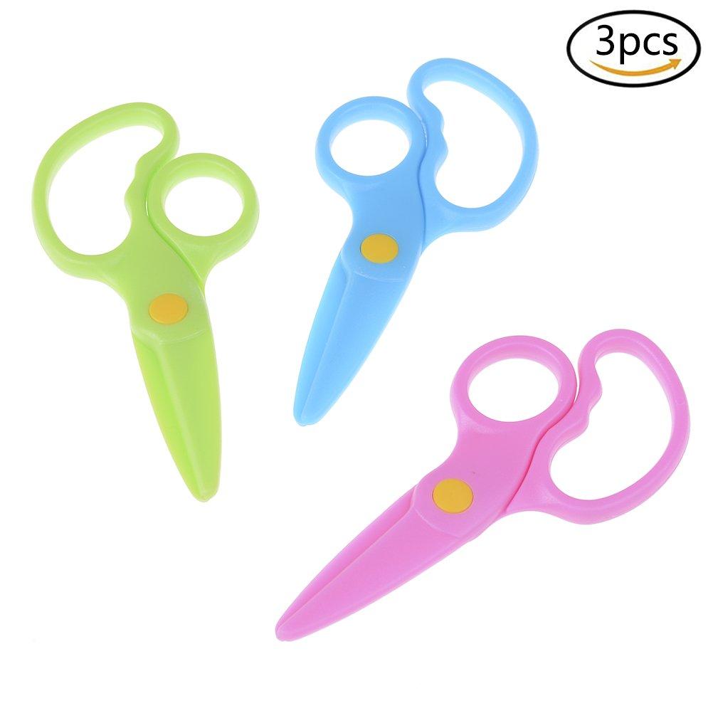 Simday sicurezza plastica forbici per bambini DIY Craft Safe forbici