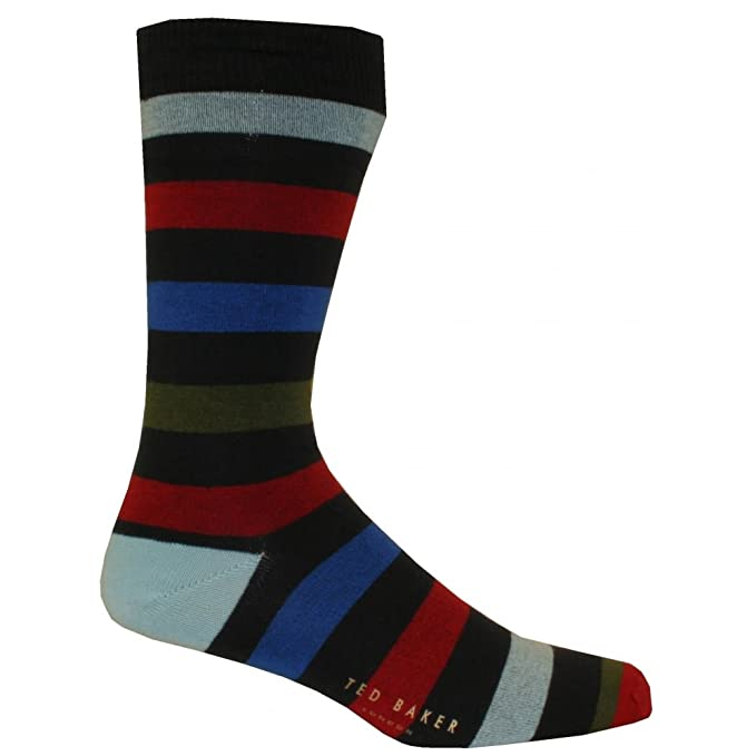 world-wide renown highly praised delicate colors Ted Baker Men's Organic Striped Socks, Navy/Multi One Size ...