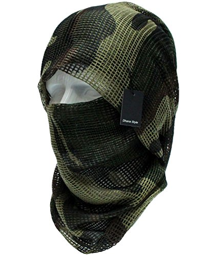 Dhana Style Sniper Veil Tactical Camouflage Mesh Net Camo Scarf Army Shemagh Ghillie Netting For Wargame, Air Soft, Paint ball, Sports & Other Outdoor Activities Type:SVMN (Jungle)
