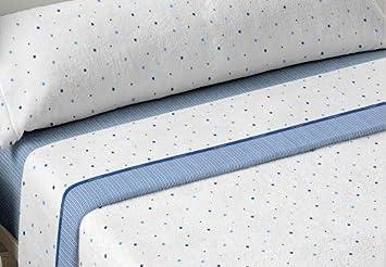 DON ALGODÓN Juego de sabanas Invierno CORALINA Cloe Azul Cama de 90 x 190/200 Azul: Amazon.es: Hogar
