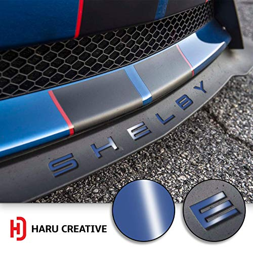 Haru Creative - Front Splitter Lip Hood Grille Letter Insert Overlay Vinyl Decal Sticker Compatible with and Fits Mustang Shelby GT350 2015-2018 - Gloss ()