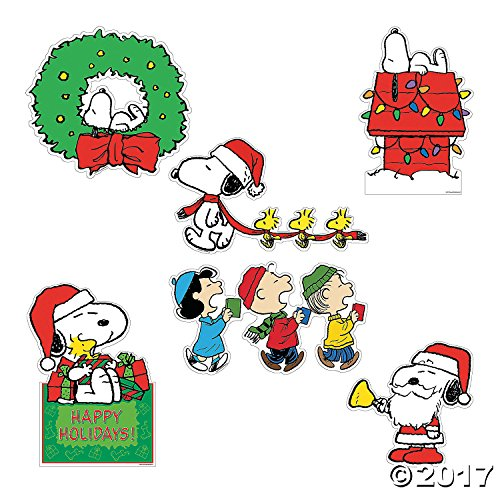 Peanuts Christmas Cut Outs Large Wall Decorations ()