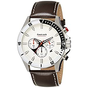Fastrack Big Time Analog White Dial Men's Watch -NL3072SL01
