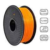 PRILINE PLA-1KG 1.75 3D Printer Filament, Dimensional Accuracy +/- 0.03 mm, 1kg Spool, 1.75 mm, Orange