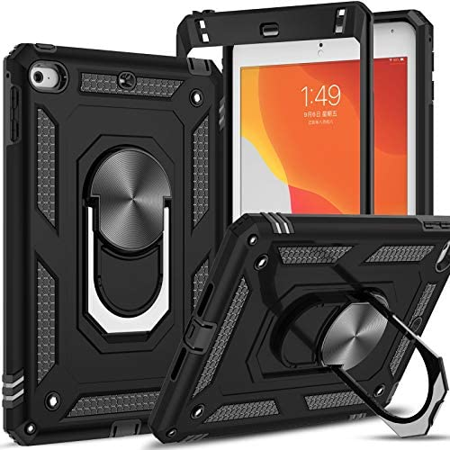 LeYi Case for iPad Mini 5 Case, iPad Mini 4 Case with [2 Pack] HD Screen Protector, [Military Grade] Full-Body Tablet Protective Cover with Metal Kickstand for iPad Mini 5th/4th Gen 7.9 inch, Black
