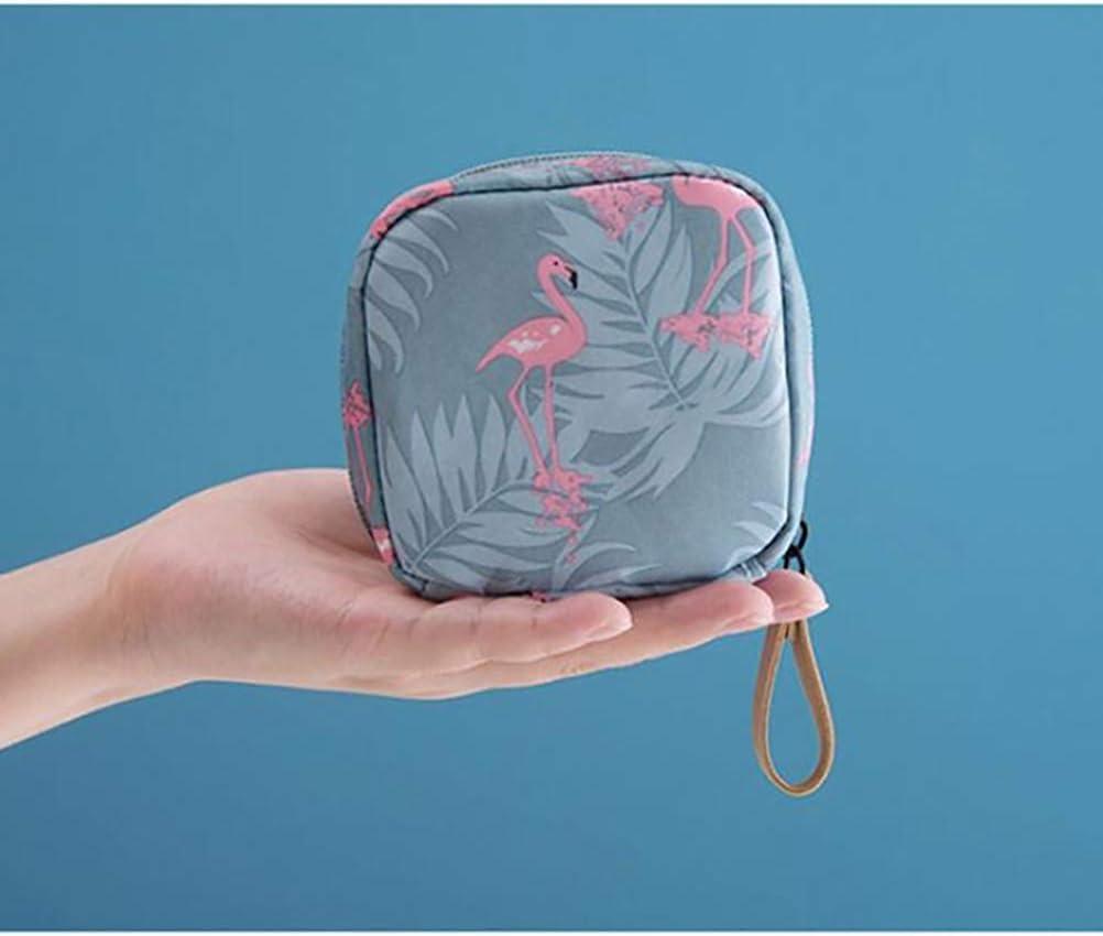 bolsa de cosm/éticos a prueba de agua bolsa de maquillaje para mujer Ourine Bolsa de almacenamiento de maquillaje bolsa de almacenamiento de neceser de viaje mini flamenco