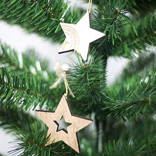 AgoHike New Christmas Tree Wood Pendant Christmas Decoration Pendant Creative Bell Christmas Decoration (Christmas Pendant Christmas Decoration)
