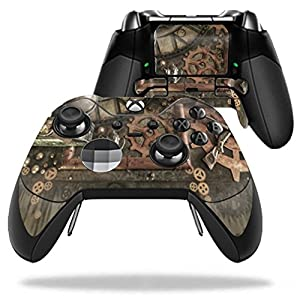 MightySkins Skin Compatible with Microsoft Xbox One Elite Controller – Steam Punk Room | Protective, Durable, and Unique Vinyl wrap Cover | Easy to Apply, Remove, and Change Styles | Made in The USA