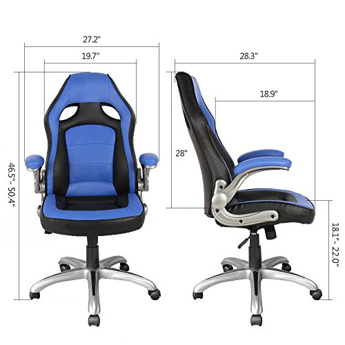 51roIIReyWL - Racing Style Gaming Chair Ergonomic Office Executive High-Back Chair: Computer Swivel Office Chair w/ Armrests,ProHT