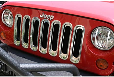 RAMPAGE PRODUCTS 87511 Chrome Grille Insert for 2007-2018 Jeep Wrangler JK