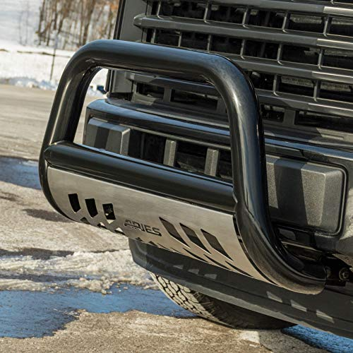 ARIES B35-5005-3 Stealth 3-Inch Black Stainless Steel Bull Bar Pearl 3 Inches Select Dodge, Ram 1500