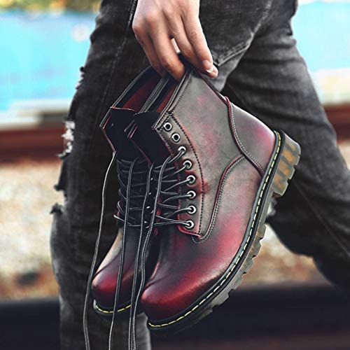大きいサイズ マーティンブーツ ショートブーツ メンズ 本革 ハイカット レースアップ 滑り止め 衝撃吸収 ブラック ポインテッドトゥ ワークブーツ 編み上げ アウトドア カジュアル メンズ靴 エンジニアブーツ