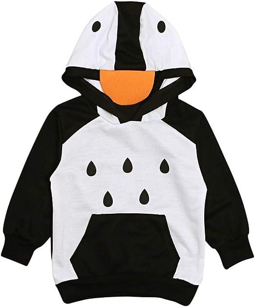 Fleece Pull Over Sweatshirt for Boys Girls Kids Youth Penguin Unisex Toddler Hoodies