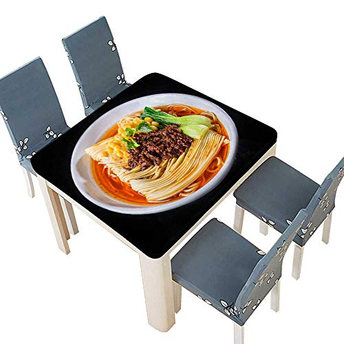- PINAFORE sanlianhuaNoodles peas Meat Sauce Indoor Outdoor Use 61 x 61 INCH (Elastic Edge)