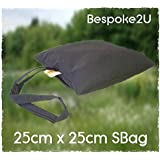Camera BeanBag Support SBag approx 25cm x 25cm Water Repellent Filled read to use (Black)