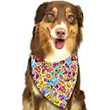 CYCY Washable Smiley Faces Triangle Unique and Never Out of Date Bandana Scarves Accessories for Pet Cats and Dogs - Gifts