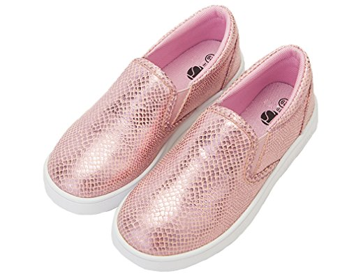 Baby Pink Sneaker Fashion Girl's Loafer Crib Flats Snakeskin Shoe Pointss Shoes Lazy Skate Boat Princess Shoes 4qwPxItZI