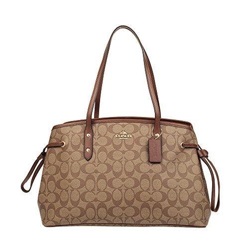 Coach Women's Hand shoulder bag F57842 Khaki /Brown Coach Handbag Outlet