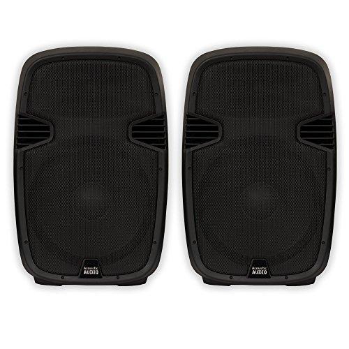 """Acoustic Audio AA152U Powered 15"""" Speaker Pair 1800 Watts 2"""