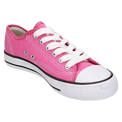 Spot On Kinder Leinen Schnürschuhe Pink