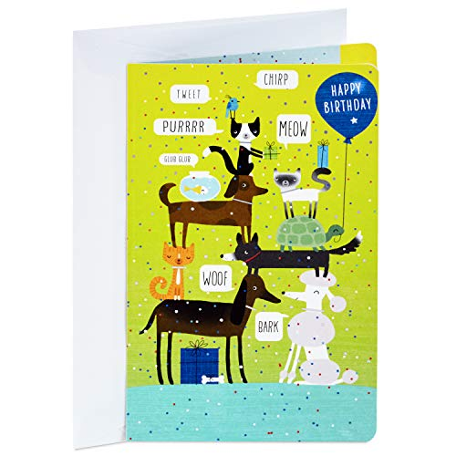 (Hallmark Birthday Card, Pets (Signed and Mailed for You, Personalizable))